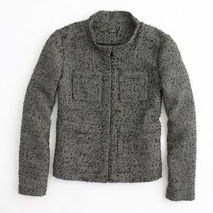 J. Crew Factory gilded tweed jacket
